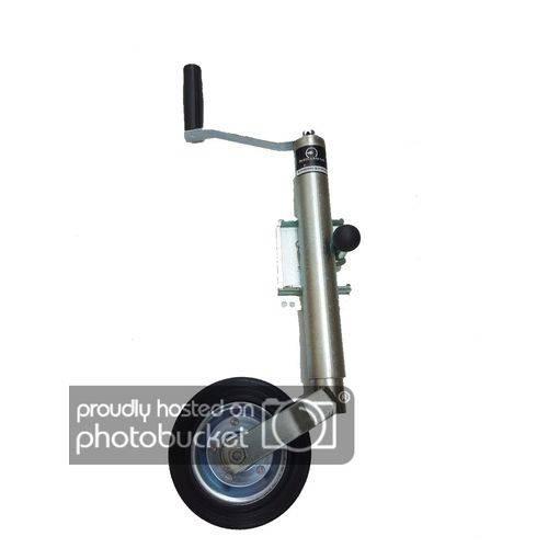 Pé de Apoio Pedestal Escamoteável Carrocinha Reboque Carretinha com Roda Boba Quinta Roda Trailer Baú 360°