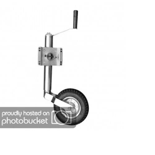 Pé de Apoio Pedestal Escamoteável Carrocinha Reboque Carretinha com Roda Boba Quinta Roda Trailer Baú