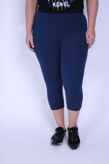 Pedal Cotton Plus Size Azul Marinho PP