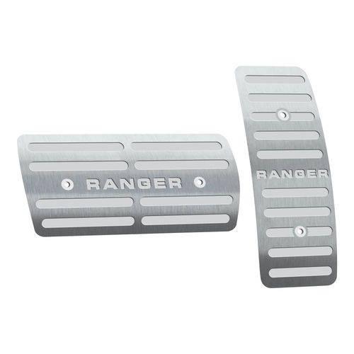 Pedaleira Ford Ranger Automático 2013 Até 2019 Aço Inox