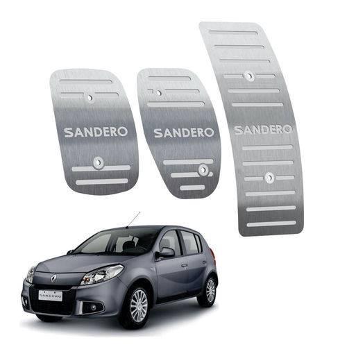 Pedaleira Renault Sandero Manual 2012 Até 2014 Aço Inox