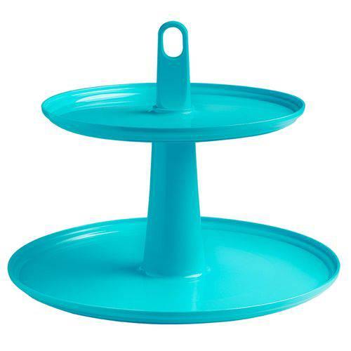 Pedestal 2 Andares Ideal para Doces e Cupcakes 32,5X26cm, Cor Verde, Cake - Brinox