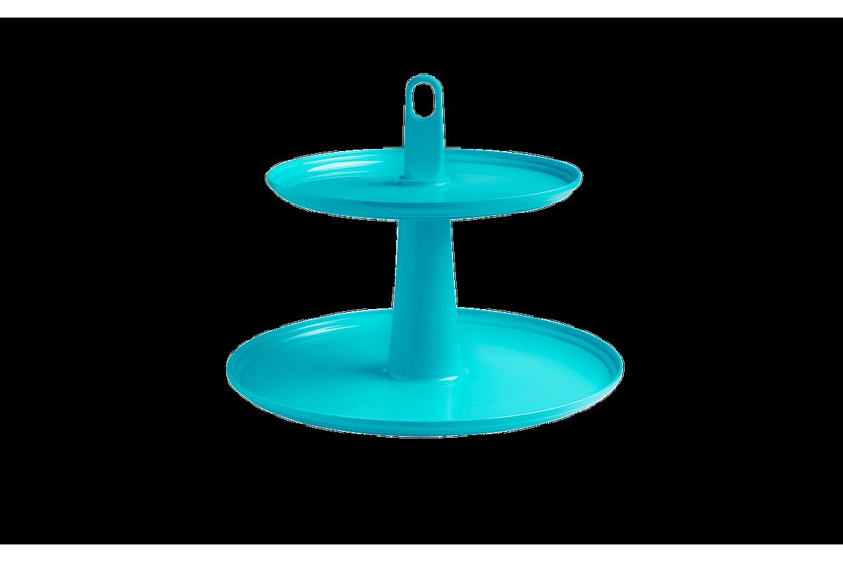 Pedestal Cake 2 Andares 32 X 32 X 27 Cm Verde Coza