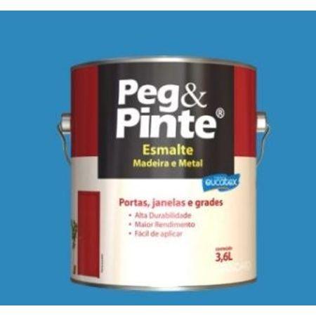 Peg e Pinte Esmalte Eucatex Brilhante 3,6 Litros Branco