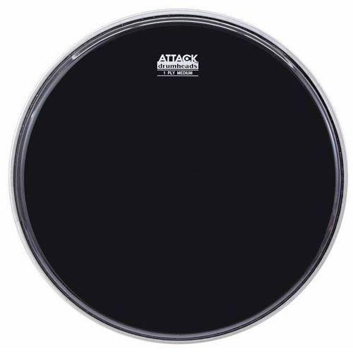Pele Attack Drumheads 1-ply Medium Hazy Black 06¨ Filme Único Preto Dha6b