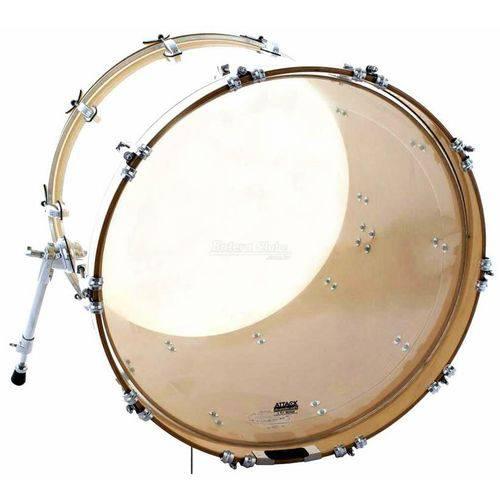 Pele Attack Drumheads 2-ply Medium Clear Bass 24¨ Filme Duplo de Bumbo Dh24 com Borda Tone Ridge