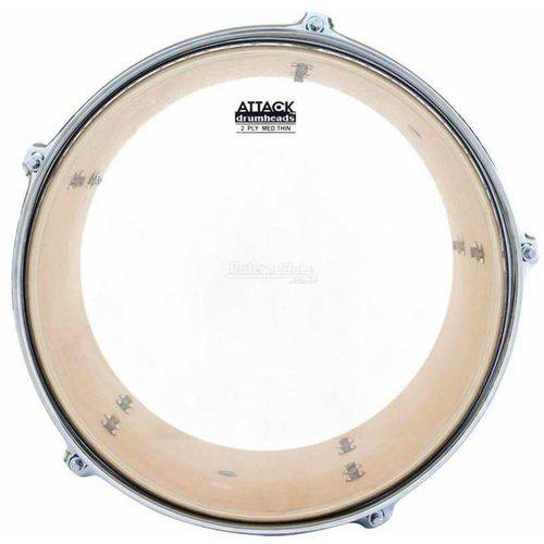 Pele Attack Drumheads 2-ply Thin Skin Clear 06¨ Filme Duplo Transparente Mais Fino Dhts2-6