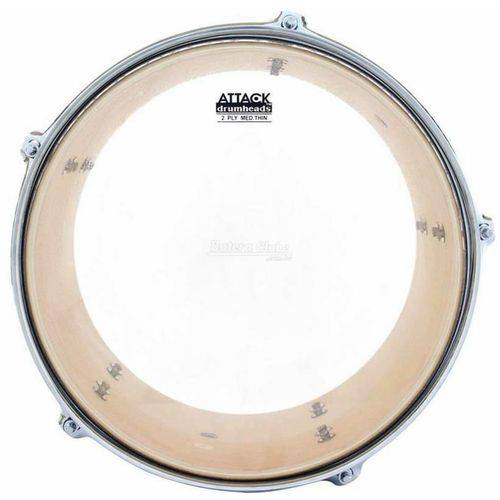 Pele Attack Drumheads 2-ply Thin Skin Clear 10¨ Filme Duplo Transparente Mais Fino Dhts2-10