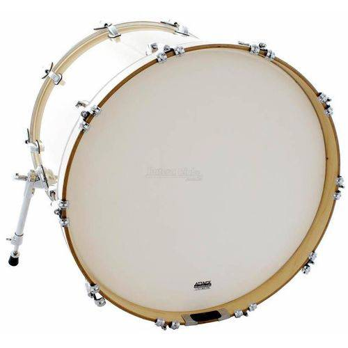 Pele Attack Drumheads 2-ply Thin Skin Coated Bass 20¨ Filme Duplo Porosa de Bumbo Dhts2-20c