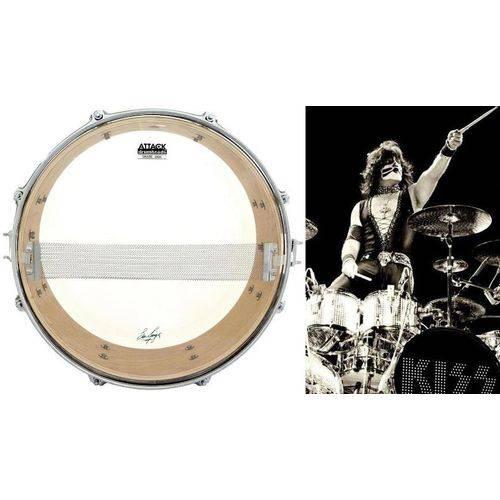 Pele Attack Drumheads Signature Eric Singer Hazy Snare 14¨ Es14m Resposta de Caixa