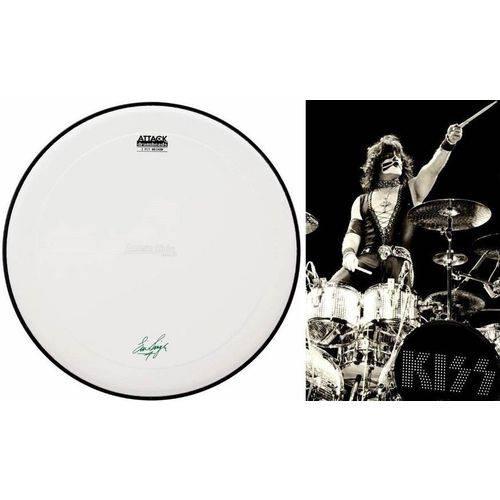 Pele Attack Drumheads Signature Eric Singer Kiss 14¨ Es14c Coated com Com Borda Anti-vibração