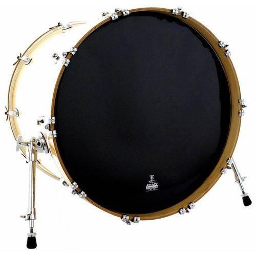Pele Attack Drumheads Terry Bozzio Signature Thin Black Resonant 18¨ Resposta Preta de Bumbo Tbbl18