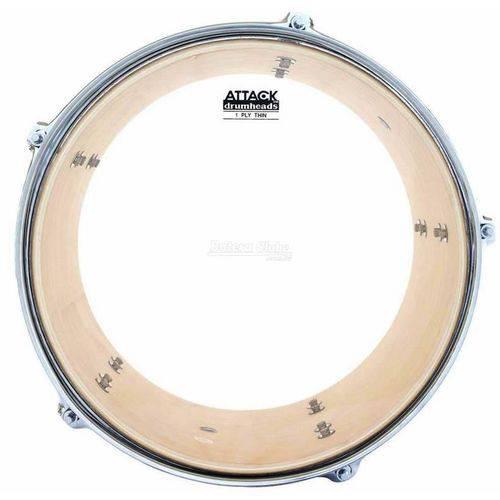 Pele Attack Drumheads Thin Skin 1-ply Clear 08¨ Filme Único Fino Resposta Dhts8