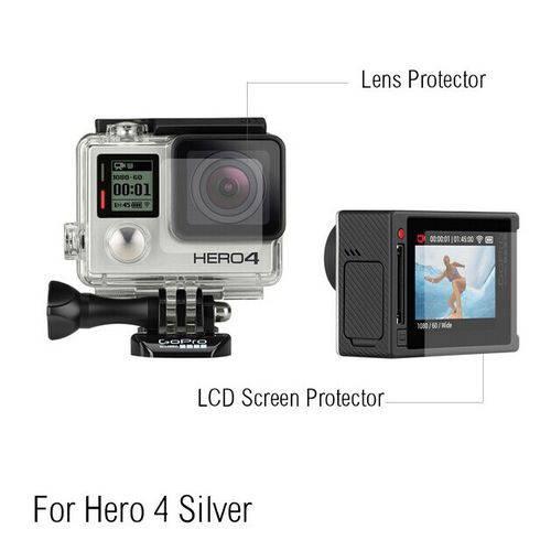 Película da Tela e Lente - Gopro Hero4 Silver