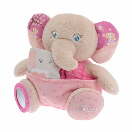 Pelúcia Mamãe Elefante com Fantoche Soft Cuddles (+0) Rosa - Chicco