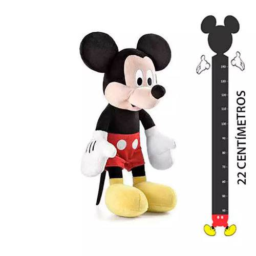 Pelucia Mickey Disney C Som 22cm Oficial Br867