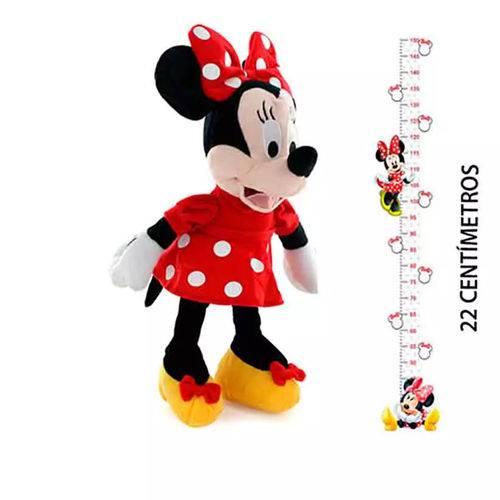 Pelucia Minnie Disney C Som 22cm Oficial Br868