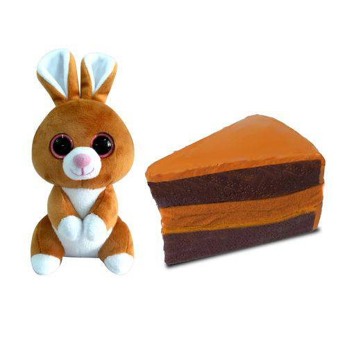 Pelúcia Sweet Pet - Animal Vira Doce - Bunny Choco Cake - Toyng