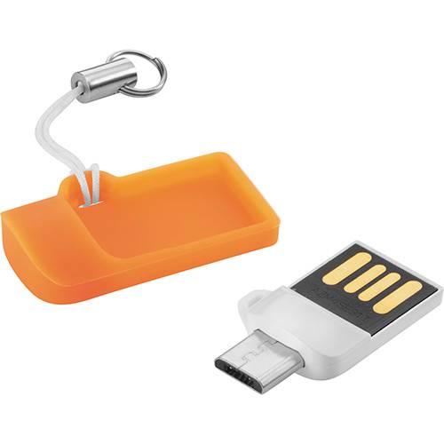 Pen Drive Dual USB 8GB Branco para Smartphone ou Tablet - Multilaser