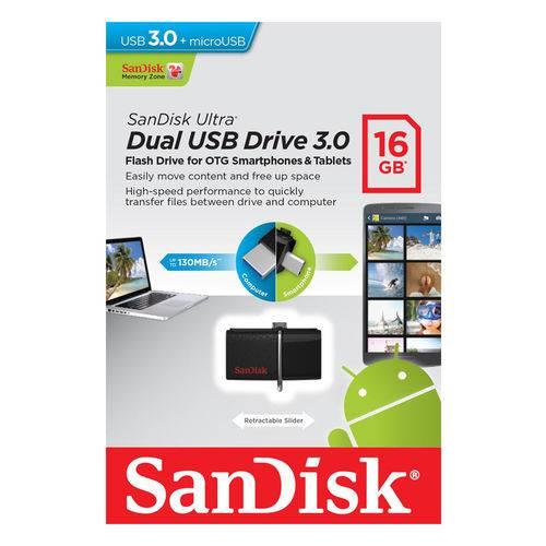 Pen Drive Sandisk 16gb Dual Usb Drive 3.0 para Smartphone Sddd2-016g-g46
