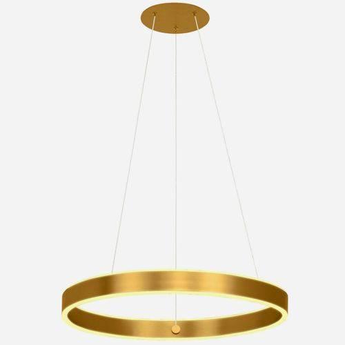Pendente Anel Led Dourado 60cm 40w 2700k