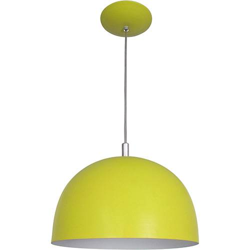 Pendente Color Dome em Alumínio Amarelo - Attena