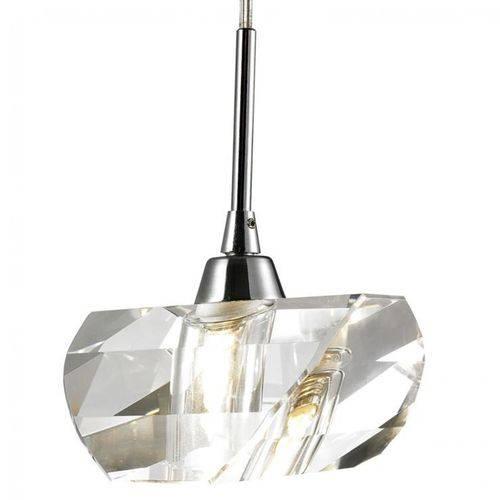 Pendente Cristal Lapidado PE013/1.9CL Mais Luz Cromado