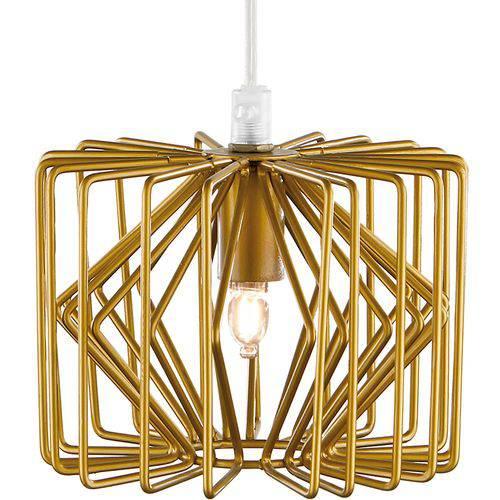 Pendente em Metal Dourado - 14cm