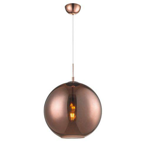 Pendente Esfera Vidro Bronze 40 Cm