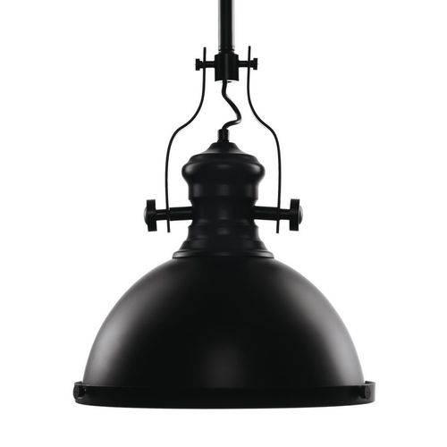 Pendente Industrial Metal Preto Bivolt 32x39/ 31 Cabox32cm