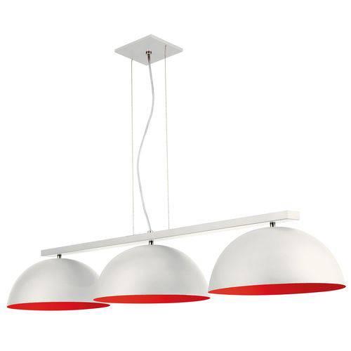 Pendente Triplo 600 2 Redondo 3 2X19X11 2 3 Lâmpada S Branco-Vermelho - Pantoja