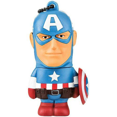 Pendrive Marvel Capitão America 8gb Pd080 - Multilaser