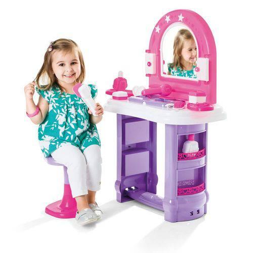 Penteadeira Infantil Miss Glamour Banquinho Brinquedo Menina