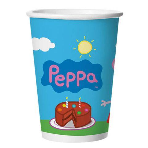 Peppa Copo Papel C/8 - Regina