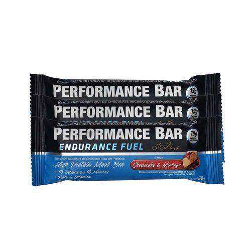 Performance Bar 60g 12 Unidades - Cheesecake e Morango