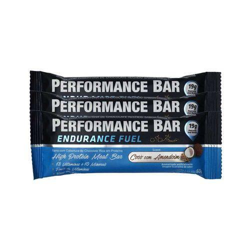 Performance Bar 60g 12 Unidades - Coco com Amendoim