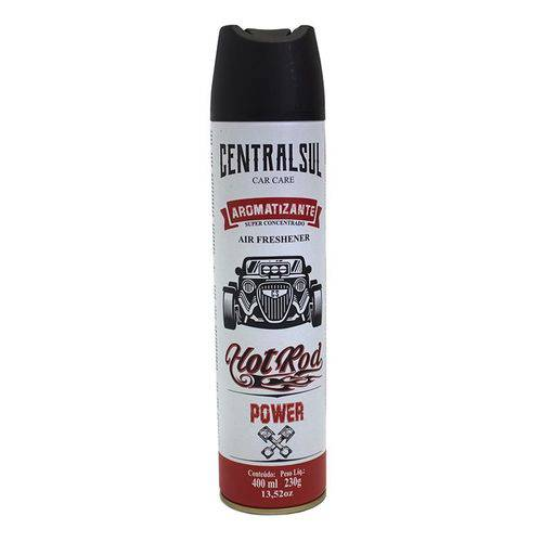 Perfume Aromatizante Spray Centralsul Hot Rod Power 400ml para Veiculo e Ambientes