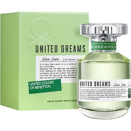Perfume Benetton Live Free Feminino Eau de Toilette 80ml