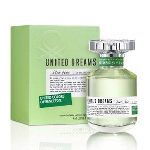 Perfume Benetton United Dreams Live Free Feminino Eau de Toilette 50ml