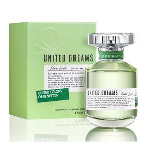 Perfume Benetton United Dreams Live Free Feminino Eau de Toilette 80ml