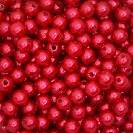 Pérola 10mm com Furo Vermelho - 250g