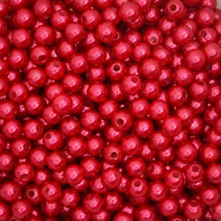 Pérola 8mm com Furo Vermelho - 250g