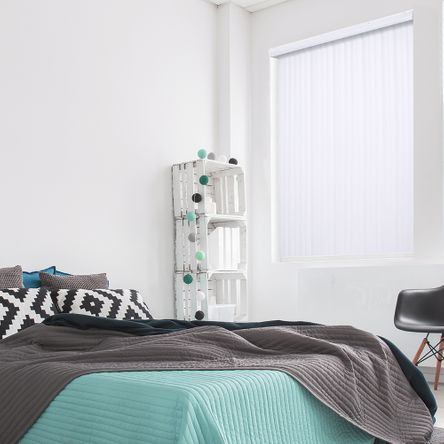 Persiana Vertical Renoir - 2,20X2,40M - PVC Branca