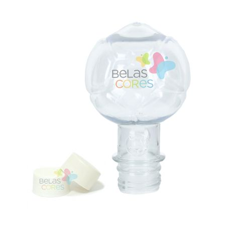 Pet Bola 130 Ml Tampa Branca - 10 Unidades