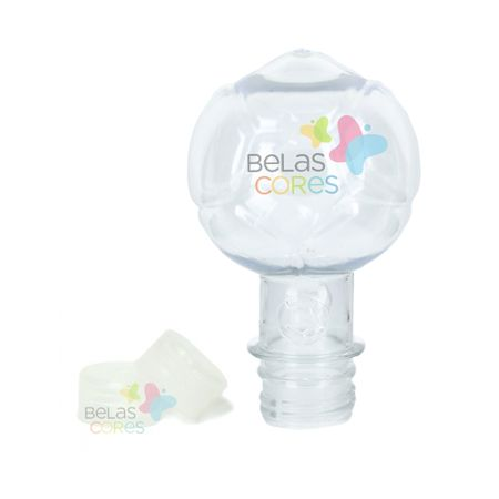 Pet Bola 130 Ml Tampa Transparente - 10 Unidades