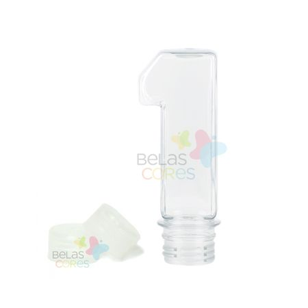 Pet Número 1 60 Ml Tampa Transparente - 10 Unidades