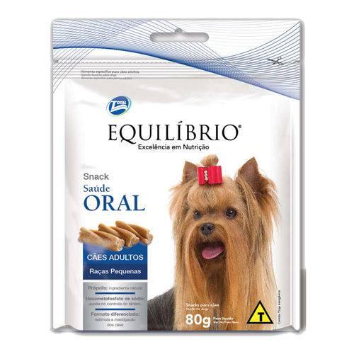 Petisco Equilíbrio Saúde Oral para Cães Adultos de Raças Pequenas - 80g
