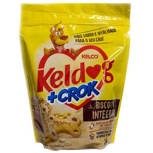 Petisco Kelco Keldog + Crok Biscoito Integral para Cães Adultos 400g