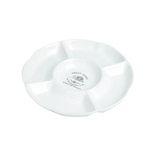 Petisqueira de Cerâmica com 5 Divisórias 23,5cm Home 8364 Lyor