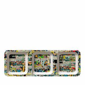 Petisqueira Retangular Quadrinhos Coloridos Dc Comics - 3 Divisorias